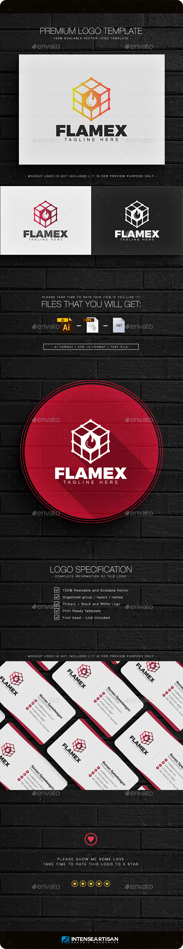 Flamex Logo - Objects Logo Templates