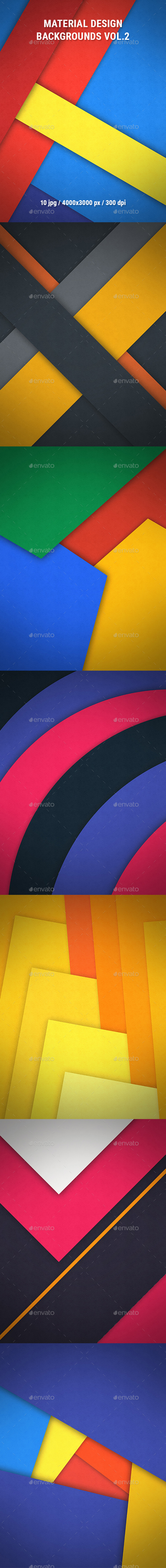 Material Design Backgrounds Vol.2 - Abstract Backgrounds
