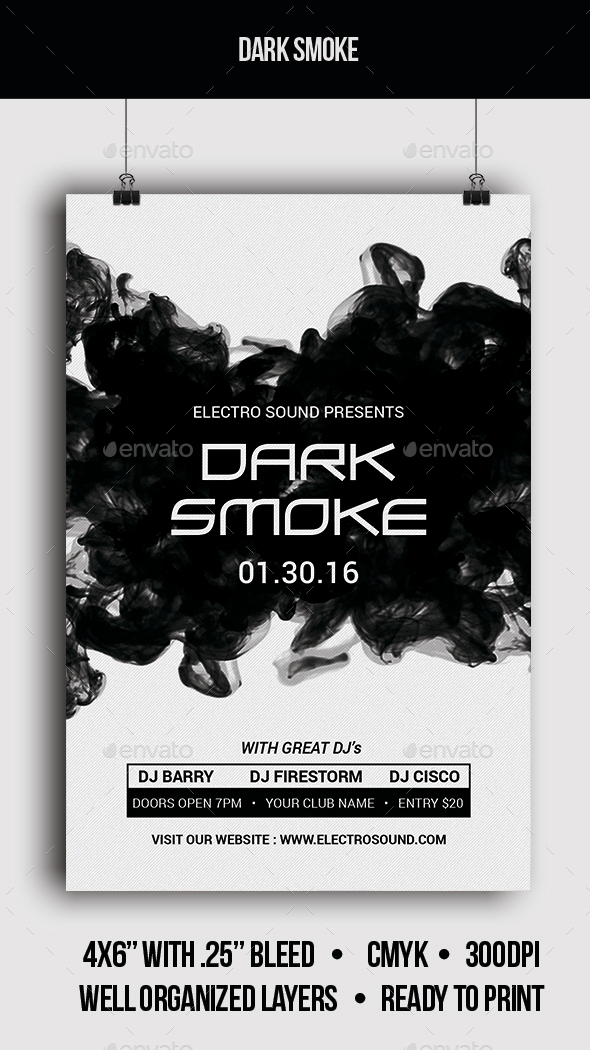 Dark Smoke - Flyer - Clubs & Parties Events