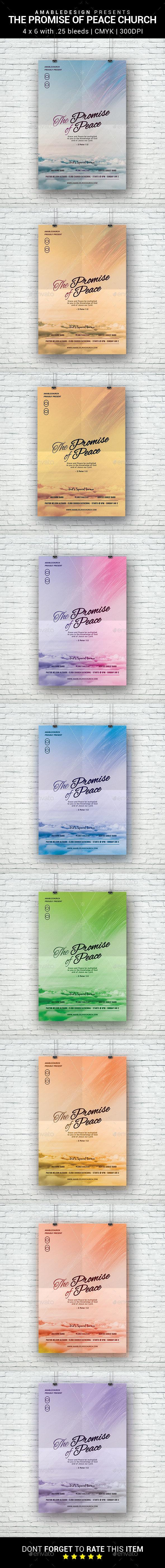 The Promise of Peace Church Flyer - Church Flyers