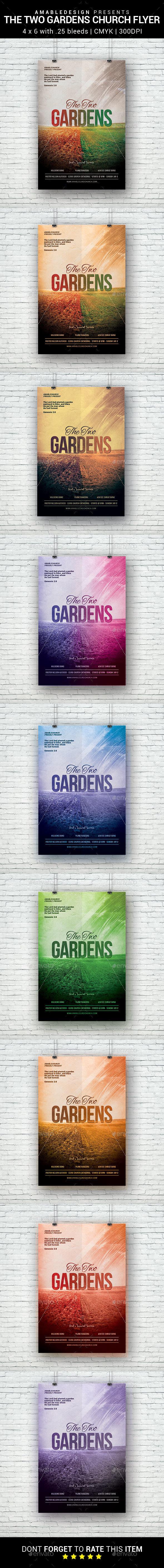 The Two Gardens Church Flyer - Church Flyers
