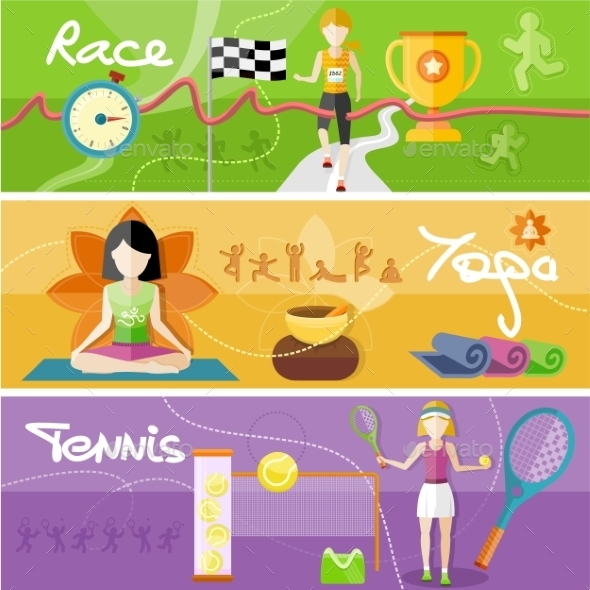 Race, Yoga And Tennis Concept - Sports/Activity Conceptual