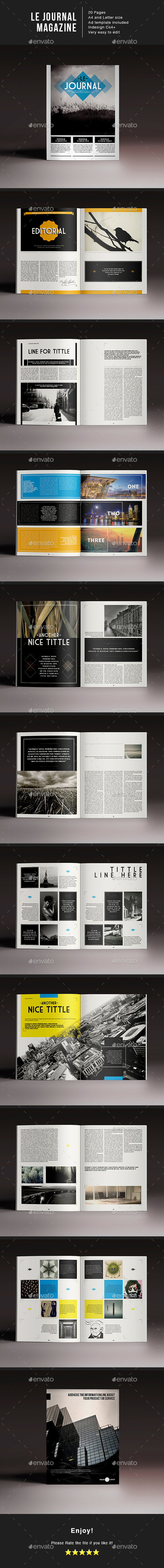 Le Journal Magazine Indesign Template - Magazines Print Templates