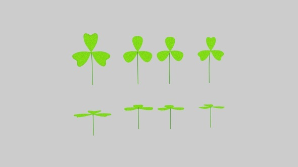 Three Leaf Clover Pack - 3DOcean Item for Sale