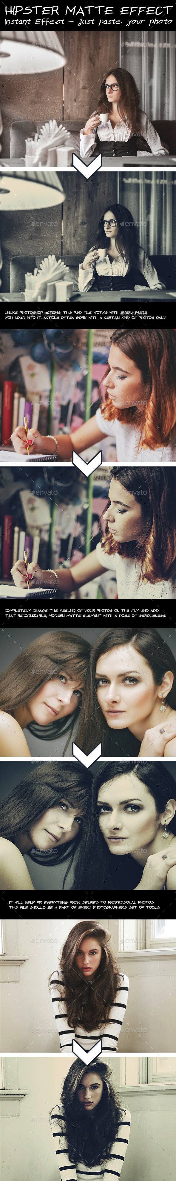 Hipster Matte Effect - Photo Templates Graphics