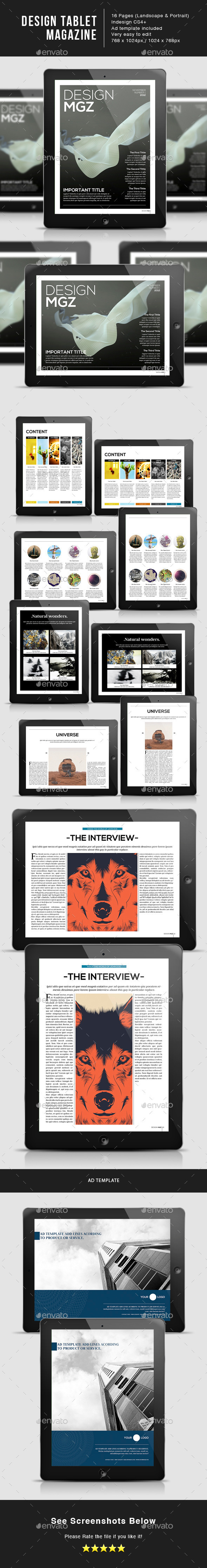 Design Magazine 1 for Tablet - Digital Magazines ePublishing