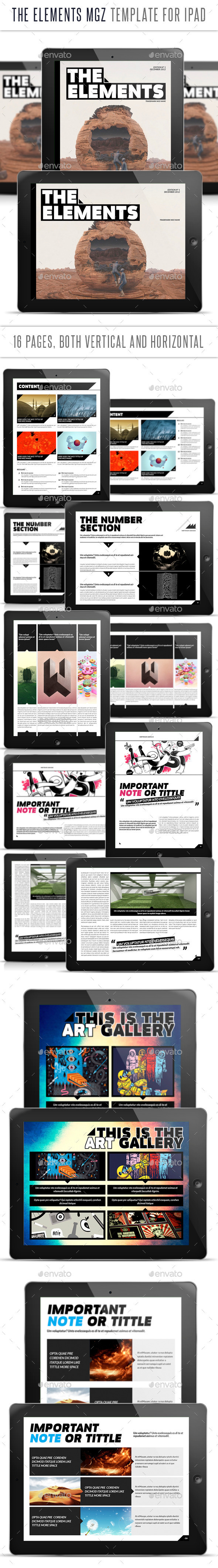 The Elements for Tablet Indesign Template - Digital Magazines ePublishing