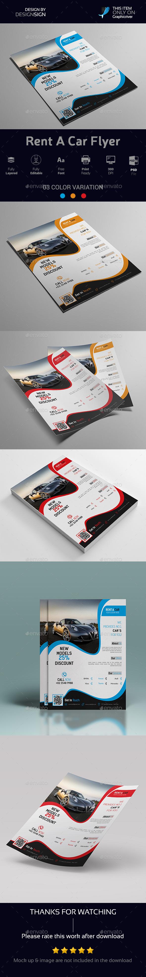 Rent A Car Flyer - Flyers Print Templates