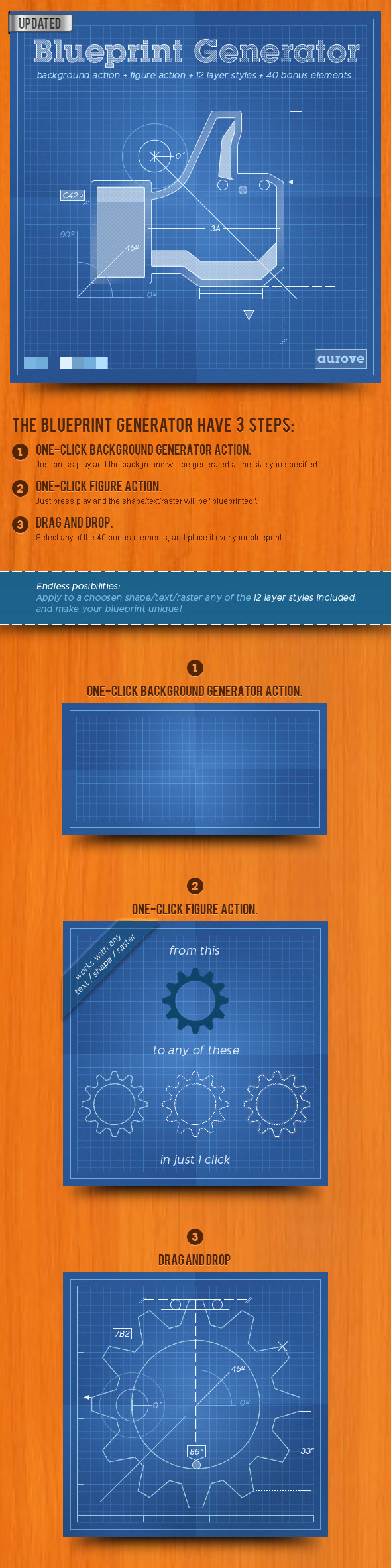 Blueprint generator action layer styles pat by aurove blueprint generator action layer styles pat utilities actions malvernweather Choice Image