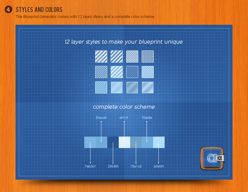 Blueprint generator action layer styles pat by aurove blueprint generator action layer styles pat malvernweather Choice Image