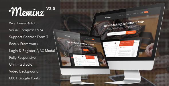 Meminz - Download Software Landing Page Theme - Marketing Corporate