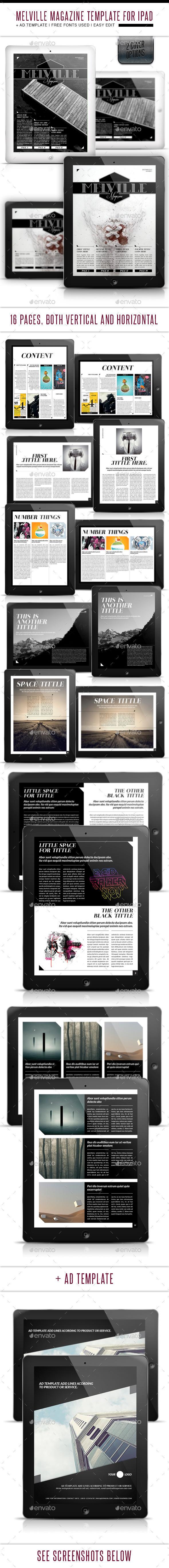 Melville Magazine for Tablet Indesign Template - Digital Magazines ePublishing