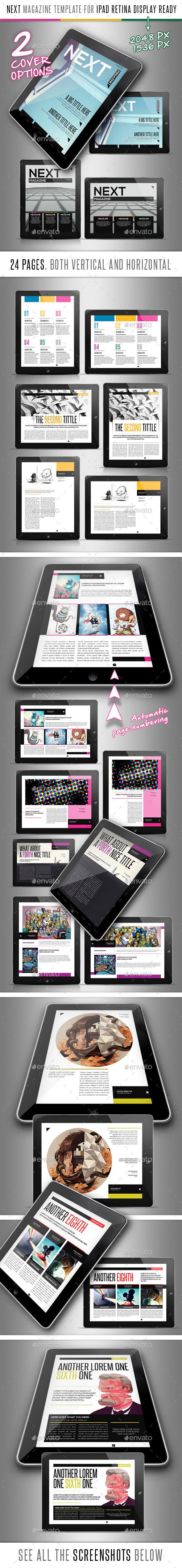 Next Magazine for Tablet Indesign Template - Digital Magazines ePublishing
