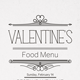 Valentine's Day Food Menu - GraphicRiver Item for Sale