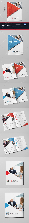 Polygonal Bi-fold Brochure-02 - Brochures Print Templates