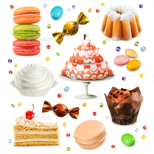 Sweets Icons - Food Objects