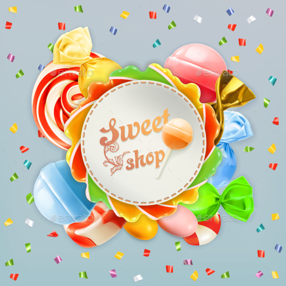 Shop Candy Label - Food Objects