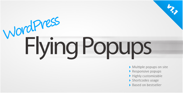 WordPress Flying Popups - CodeCanyon Item for Sale