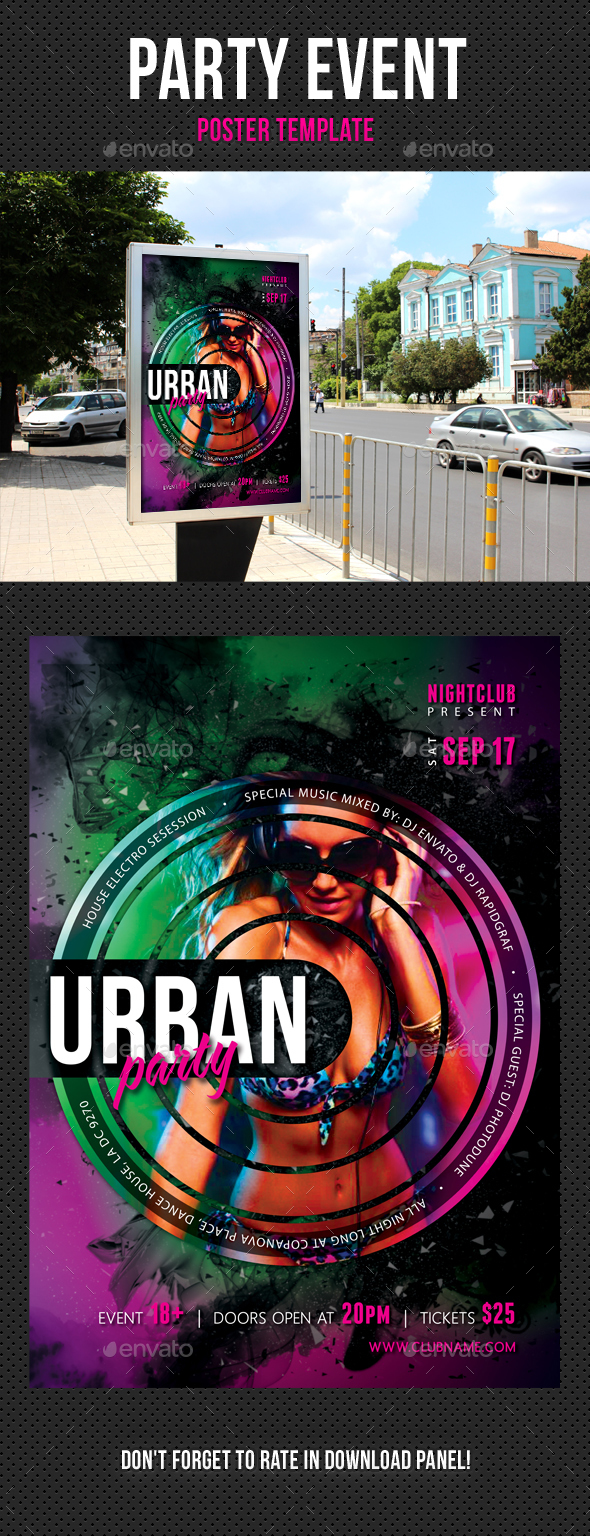 Party Event Music Poster 07 - Signage Print Templates