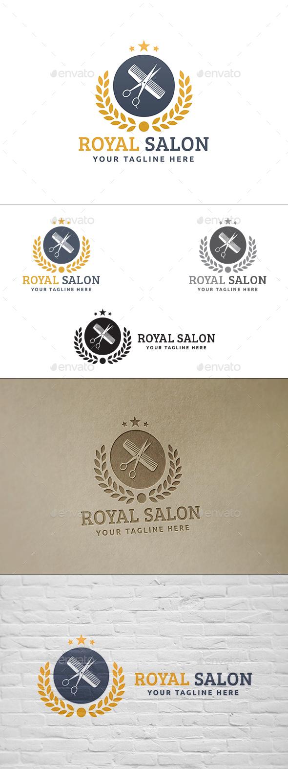 Royal Salon  - Crests Logo Templates
