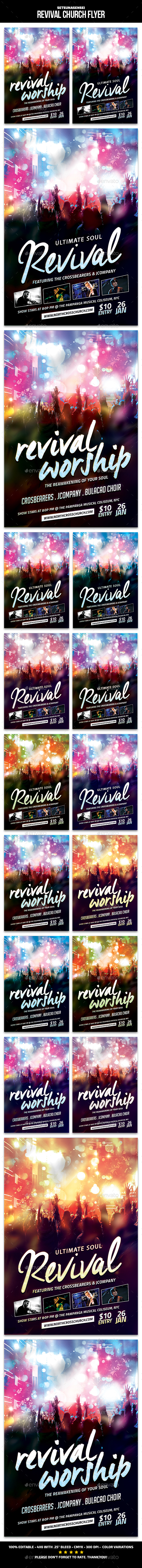 Revival Church Flyer - Church Flyers