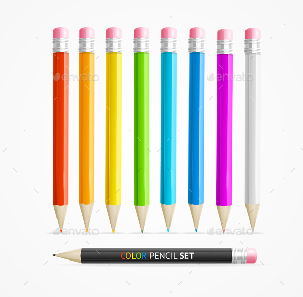 Color Pencil Set - Man-made Objects Objects