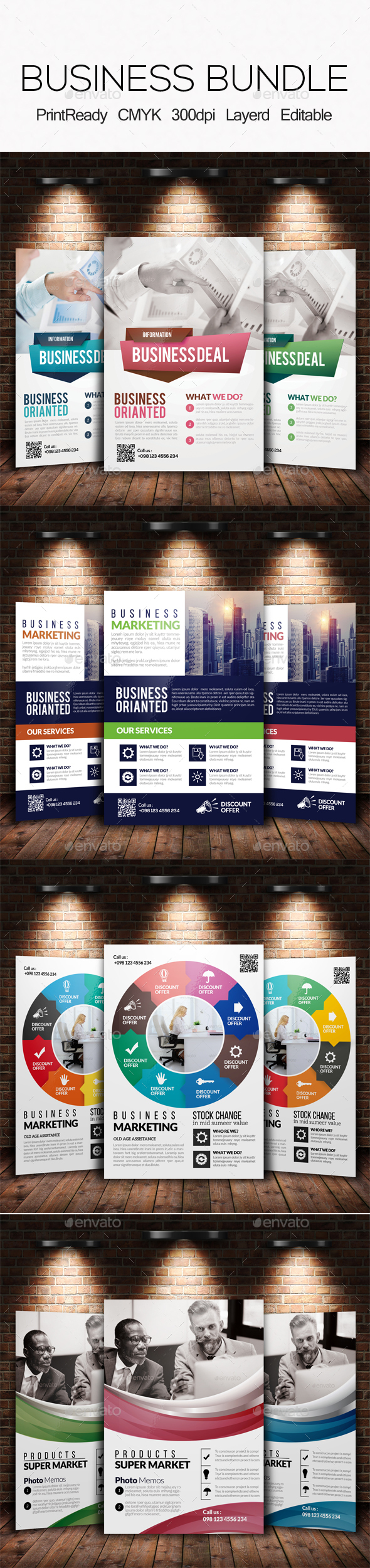 Corporate Strategy Planning Flyer Bundle - Corporate Flyers