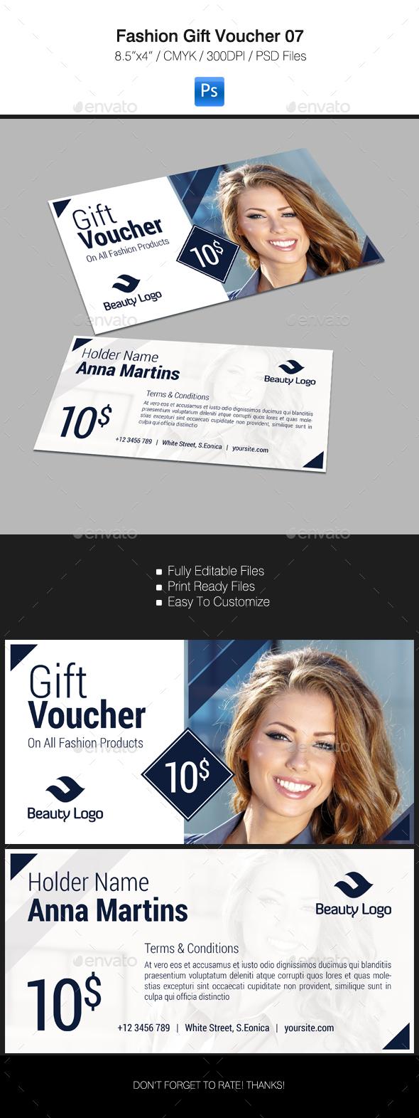 Fashion Gift Voucher 07 - Cards & Invites Print Templates