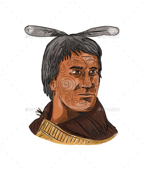 Maori Chief Warrior - People Characters