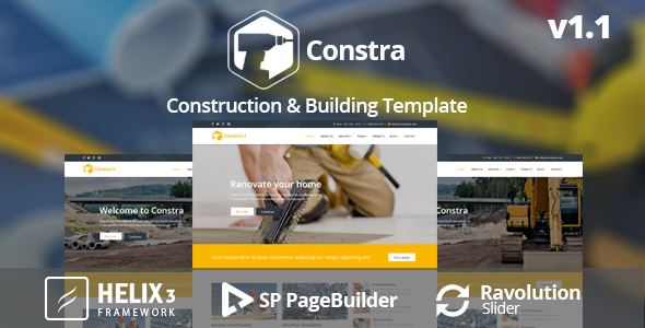 Constra – Construction & Building Business Template