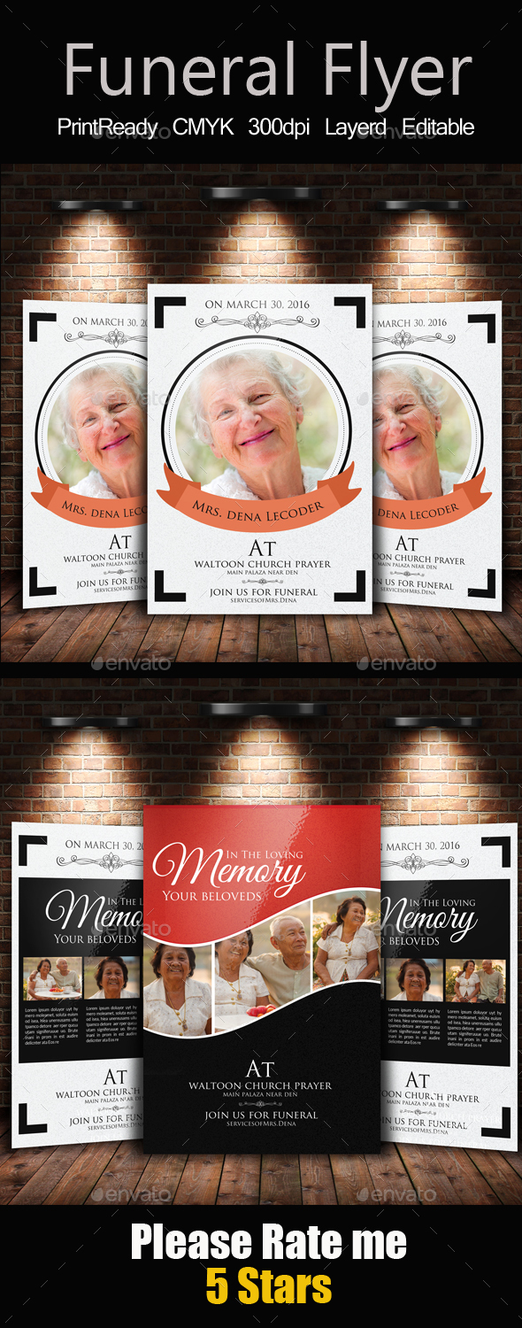 Memory Funeral Program Bundle - Church Flyers