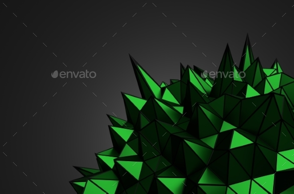 Abstract Shape With Chaotic Structure. - Tech / Futuristic Backgrounds