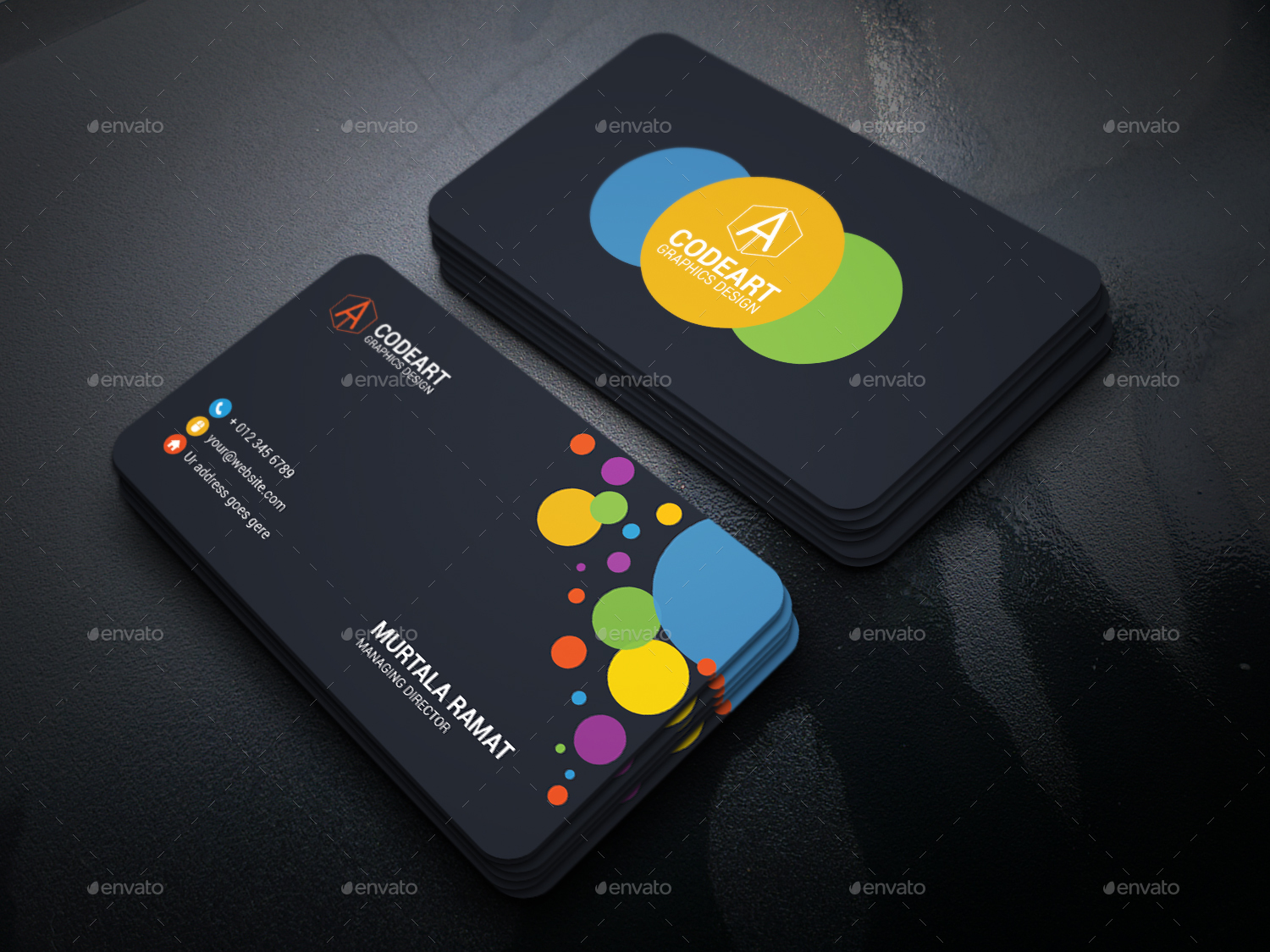 Artistic business card by murtalawork graphicriver artistic business card colourmoves