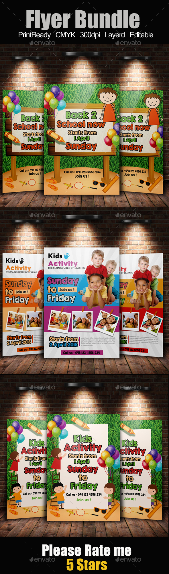 Kids Playgroup Education Flyer Bundle - Corporate Flyers