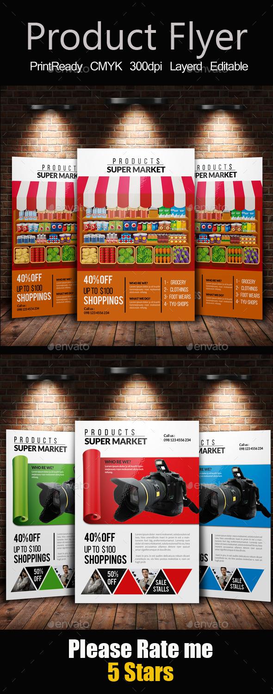 Product & Supermarket Promotion Flyer Bundle - Corporate Flyers