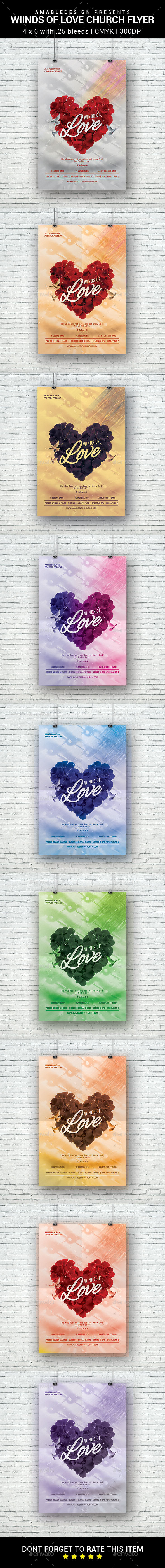 Winds of Love Church Flyer - Church Flyers