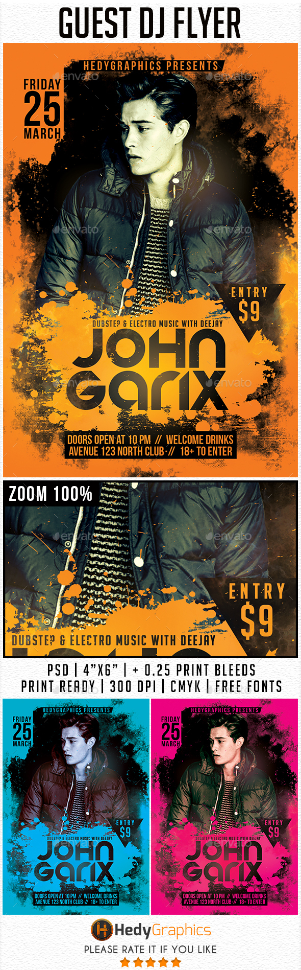 Guest DJ - Flyer Template - Clubs & Parties Events