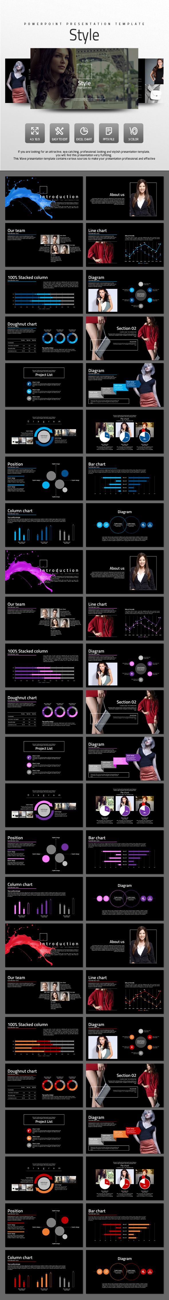 Style - Abstract PowerPoint Templates
