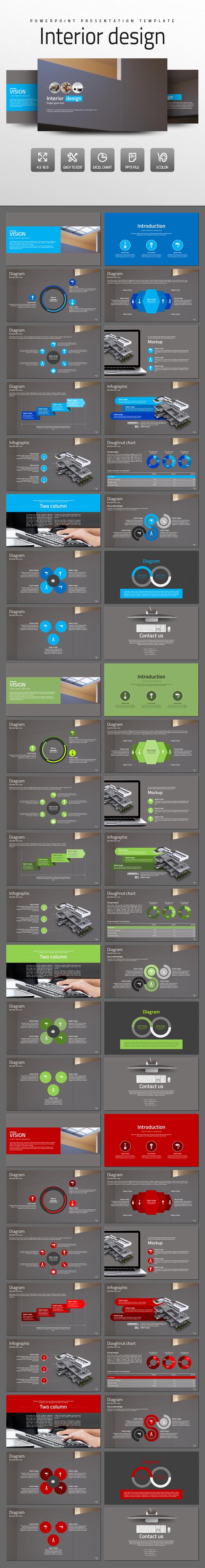Interior design - PowerPoint Templates Presentation Templates