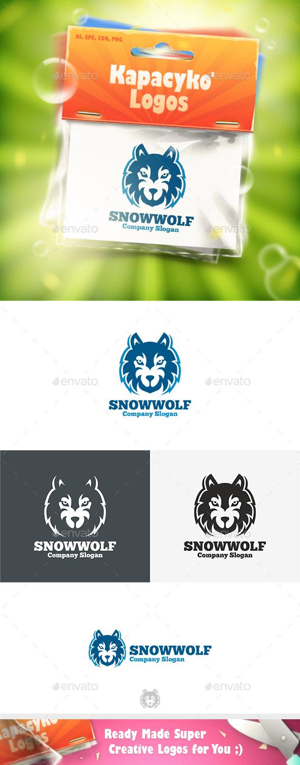 Snow Wolf Logo - Animals Logo Templates