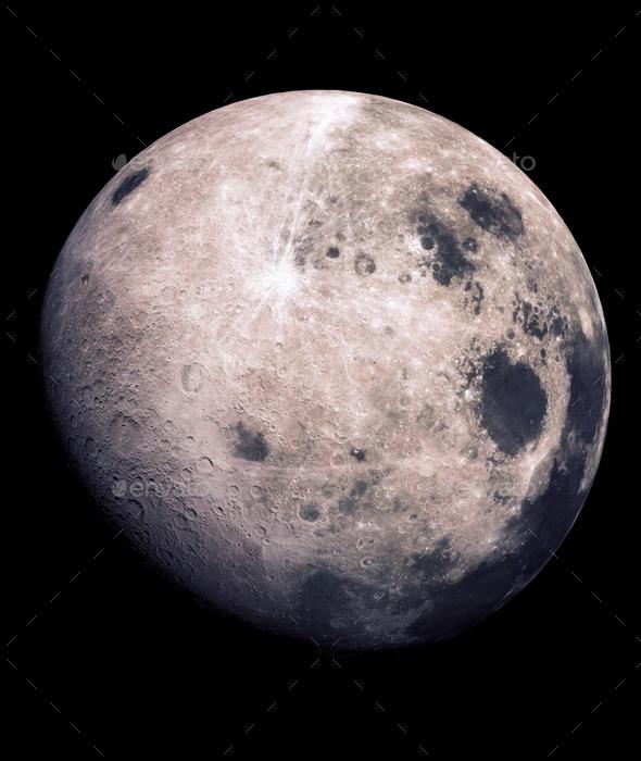 Moon - Objects 3D Renders