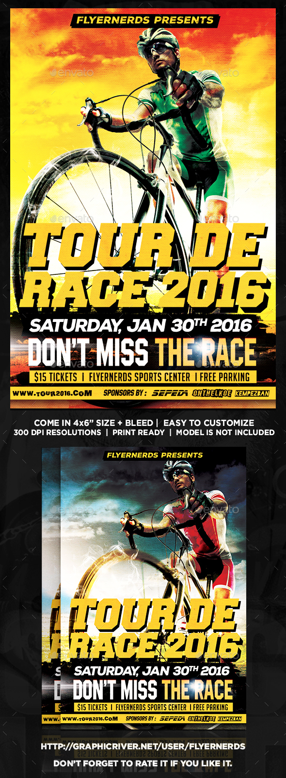 Tour De Race Bicyle Championships Sport Flyer - Sports Events