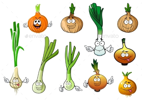 Green, Leek And Bulb Onion Vegetables - Food Objects