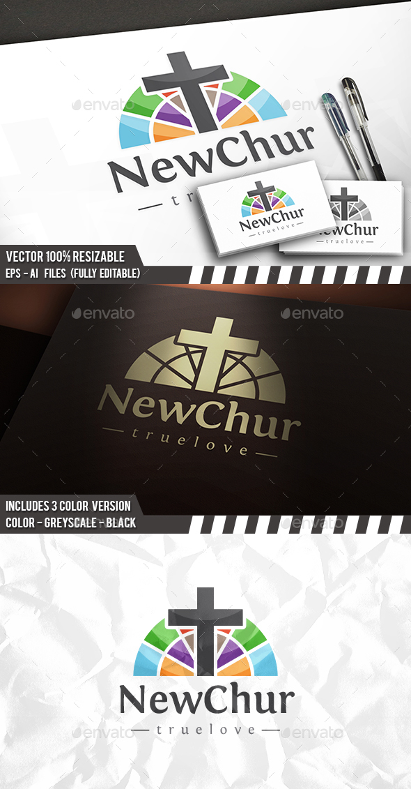 Creative Church Logo - Symbols Logo Templates