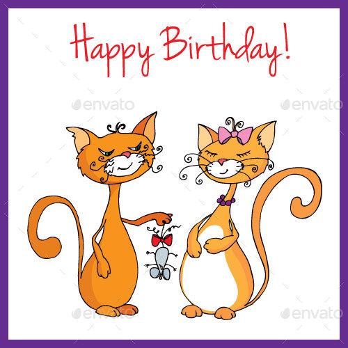 Birthday Cards Set By Toranoko Graphicriver