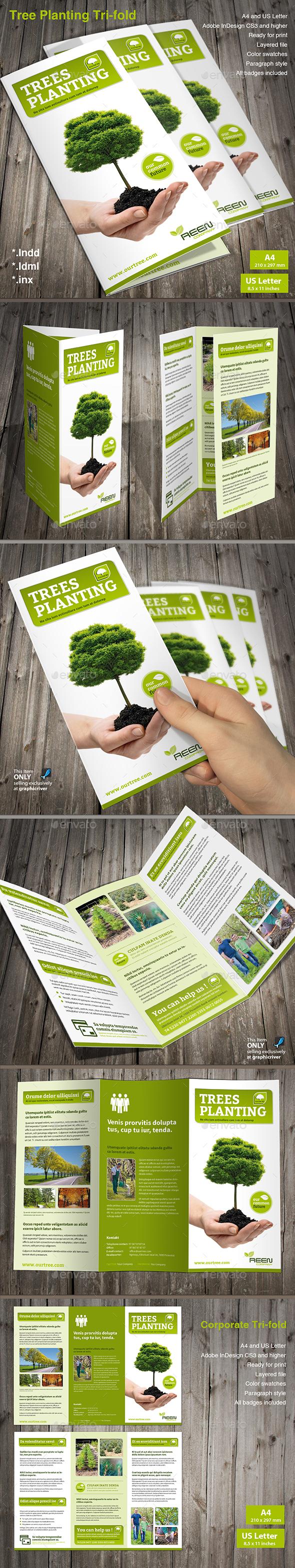 Tree Planting Tri-Fold Brochure - Informational Brochures