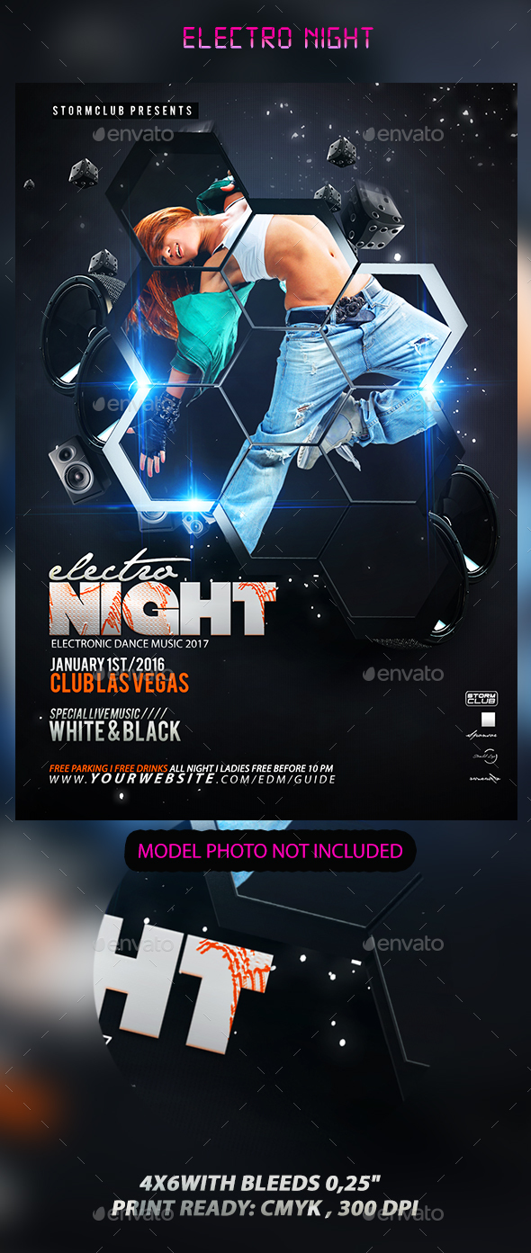 Electro Night - Events Flyers