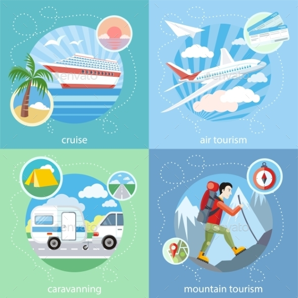 Mountain, Cruise, Air Tourism - Travel Conceptual