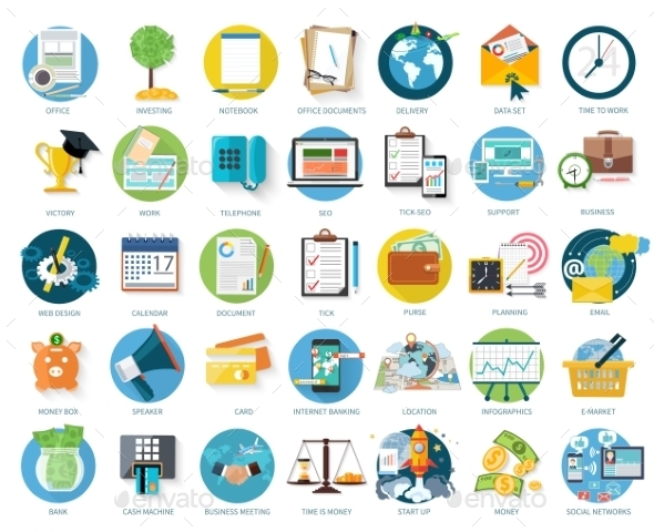 Set Of Business Icons - Concepts Business
