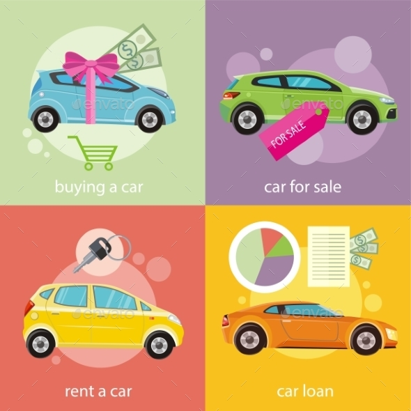 Buying Car, Rent And Loan - Concepts Business